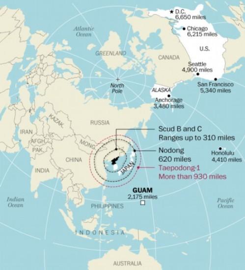 朝鲜各型弹道导弹最远能打到哪3